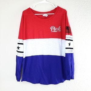 NWOT PINK 'Merica Rare Long Sleeve Shirt Large